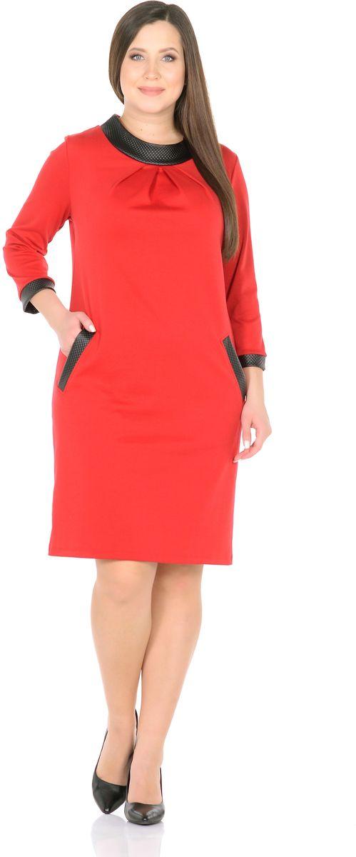 Платье33148-36-К1Демонстративно просто и вместе с тем невероятно стильно - это о платье от Rosa Blanco. Свободный крой платья умело обыгрывает фигуру, скрывая все ее недостатки. Оригинальный воротник-стойка придает аристократичность, рукава 3/4 подчеркивают актуальность модели. Платье приобретает особый шарм благодаря широкой контрастной отделке из искусственной кожи по краям рукавов, втачных карманов и высокого воротника. Крупные серьги и лаконичные фактурные браслеты отлично дополнят наряд. Выбирая одежду на день, Вы выбираете настроение, так пусть оно будет ярким, как платье от Rosa Blanco. Длина изделия 98-103 см. Ткань - плотный трикотаж, характеризующийся эластичностью, растяжимостью и мягкостью. Состав ткани: 78% вискоза, 19% полиэстер, 3% эластан. Рост модели на фото 170 см (+ каблук).
