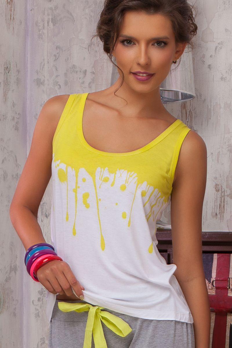 36381Майка из коллекции домашней одежды Limonata («Лимоната») от итальянской марки Amore a Prima Vista – выполненная из мягкой cтруящейся вискозы.