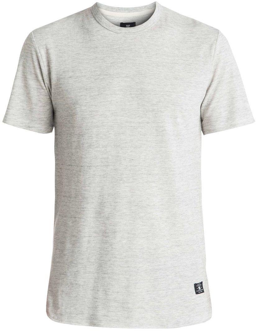 ФутболкаEDYKT03319-SEYHМужская футболка DC Shoes выполнена из 100% натурального пикейного хлопка неровного плетения. Модель имеет круглый вырез горловины с отделкой эластичным материалом в рубчик и короткие рукава. Крой удлиненный, линия подола с небольшими треугольными вставками по бокам сзади слегка занижена.