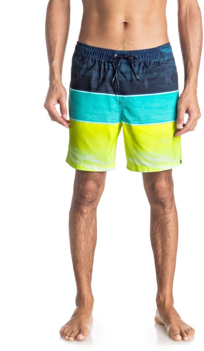 ШортыEQYJV03203-BMS6Шорты мужские Quiksilver изготовлены из качественной ткани. Модель длиной до колен затягивается на талии на шнурок-утяжку. Изделие выполнено в ярких цветах.