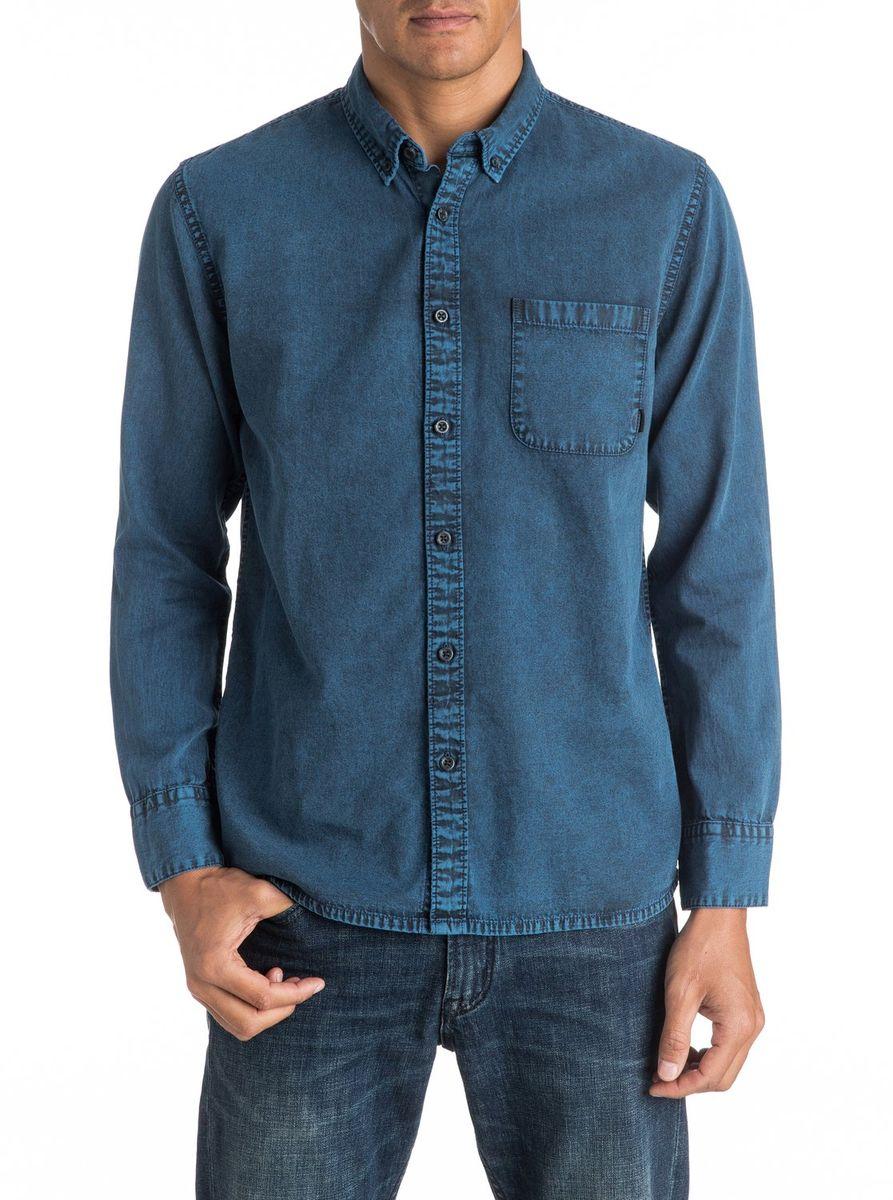 РубашкаEQYWT03438-BYH0Мужская рубашка Quiksilver с длинными рукавами выполнена из качественного хлопка. Изделие застегивается на пуговицы, имеется нагрудный накладной карман.