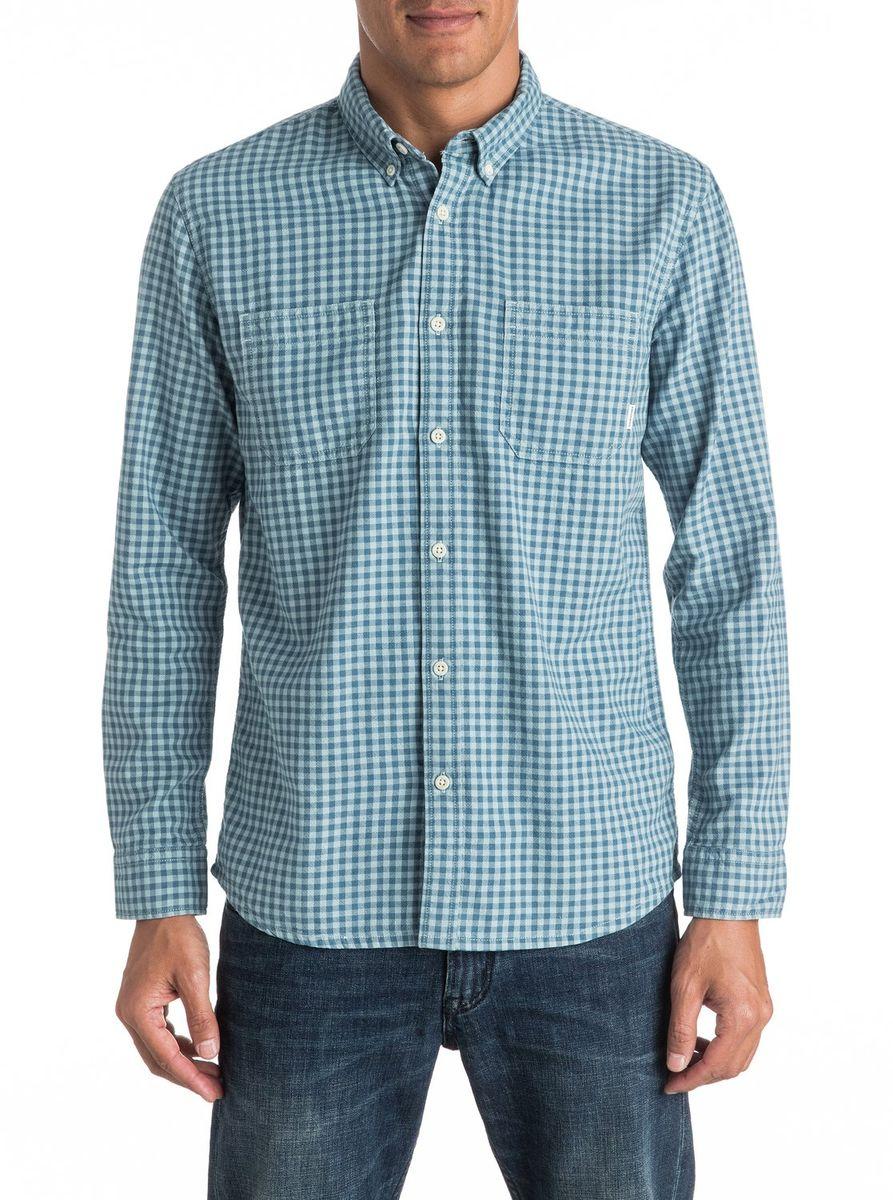 РубашкаEQYWT03440-BQK1Мужская рубашка Quiksilver с длинными рукавами выполнена из качественного хлопка. Изделие застегивается на пуговицы, имеется нагрудный накладной карман.