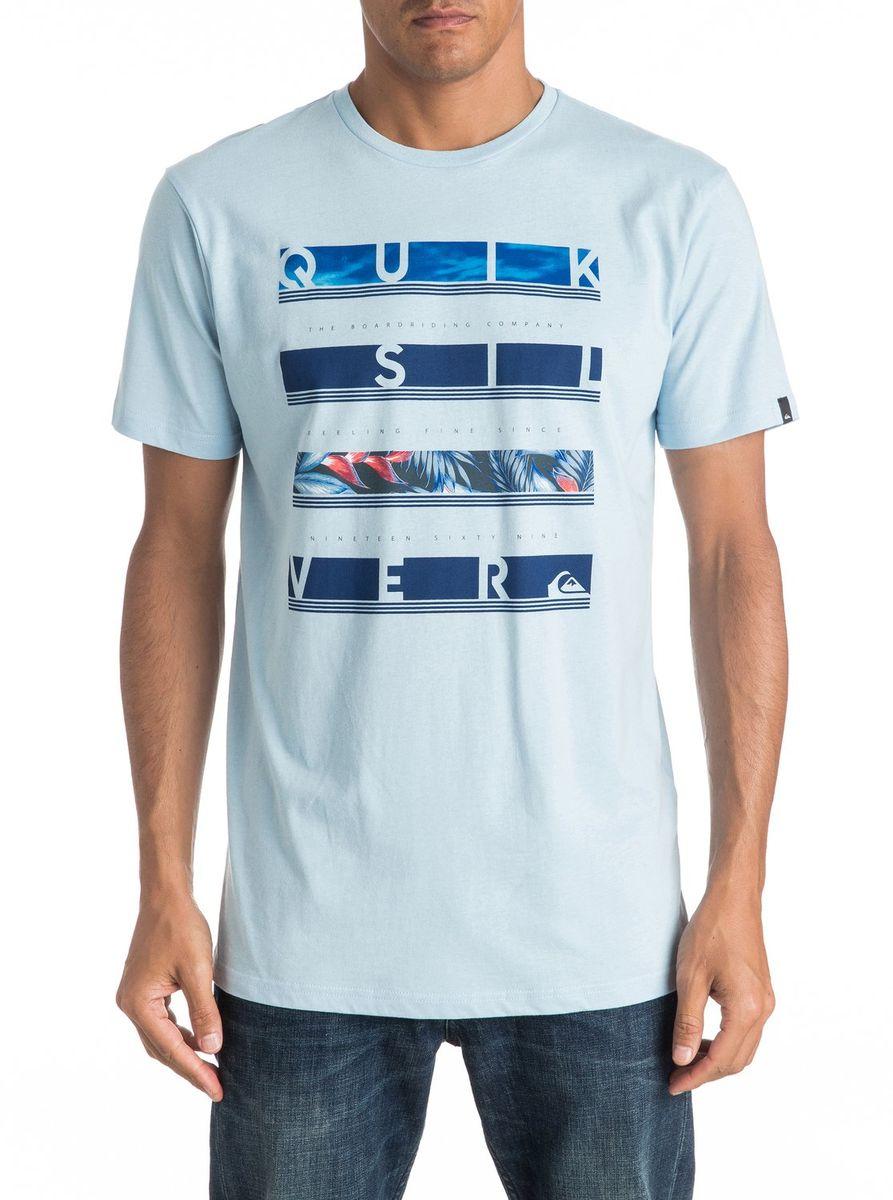 ФутболкаEQYZT04280-BFG0Мужская футболка Quiksilver изготовлена из качественного материала. Модель выполнена с круглой горловиной и короткими рукавами.