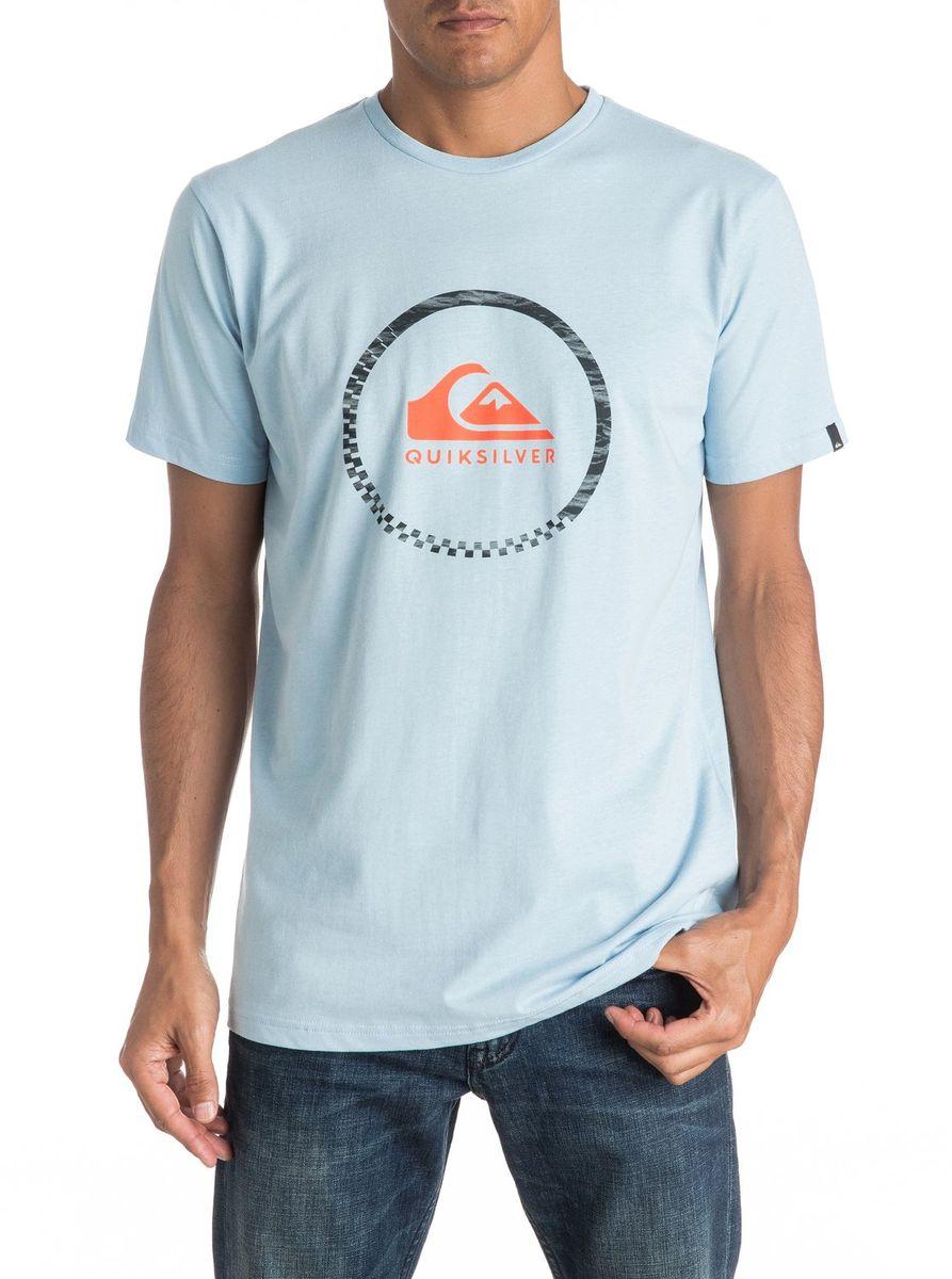 ФутболкаEQYZT04285-KVJ0Мужская футболка Quiksilver изготовлена из качественного материала. Модель выполнена с круглой горловиной и короткими рукавами.