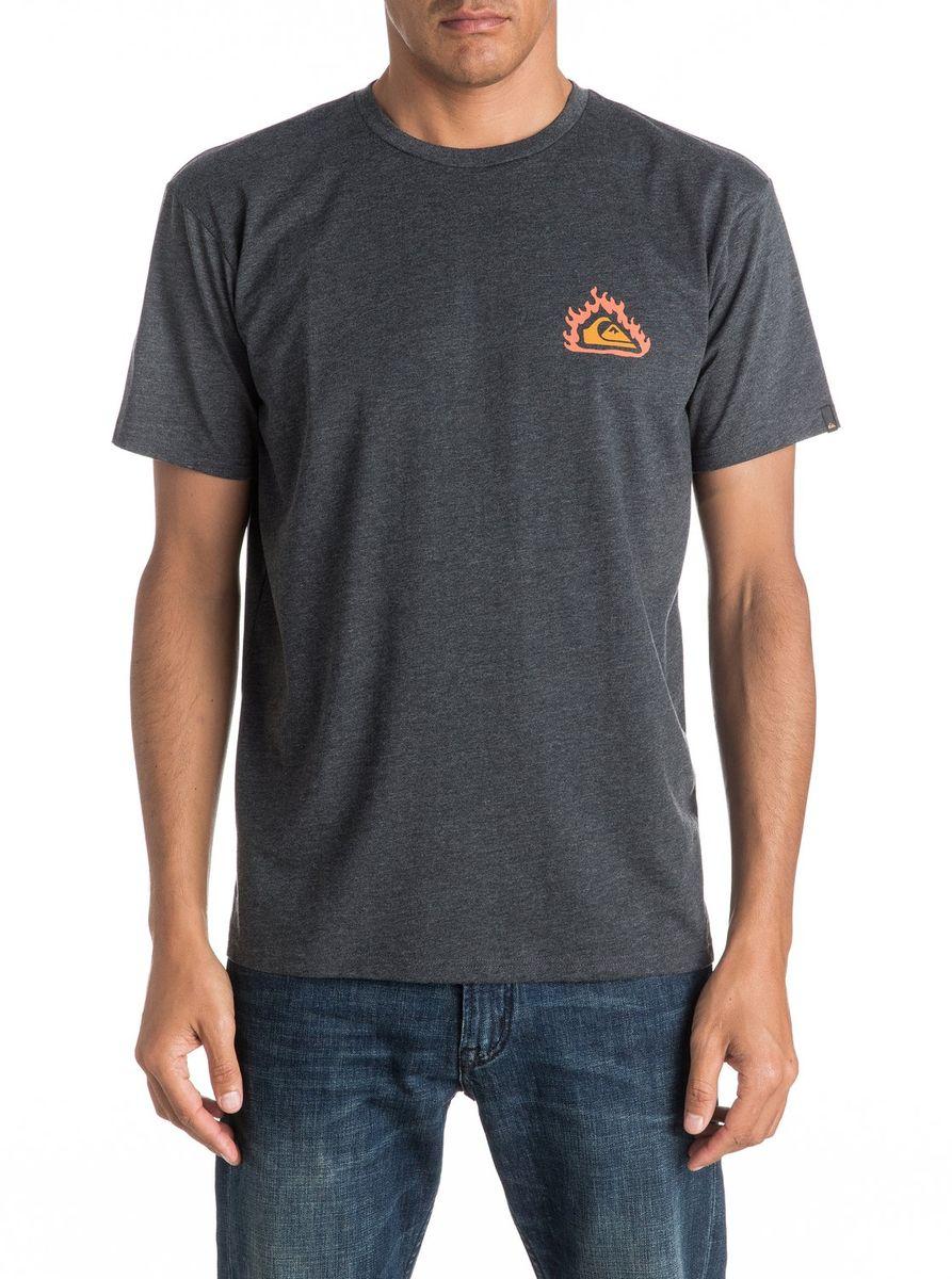 ФутболкаEQYZT04286-BRQHМужская футболка Quiksilver изготовлена из качественного натурального материала. Модель выполнена с круглой горловиной и короткими рукавами.