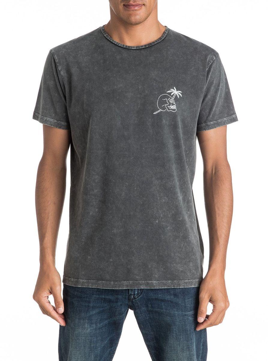 ФутболкаEQYZT04292-KTA0Мужская футболка Quiksilver изготовлена из качественного натурального материала. Модель выполнена с круглой горловиной и короткими рукавами.