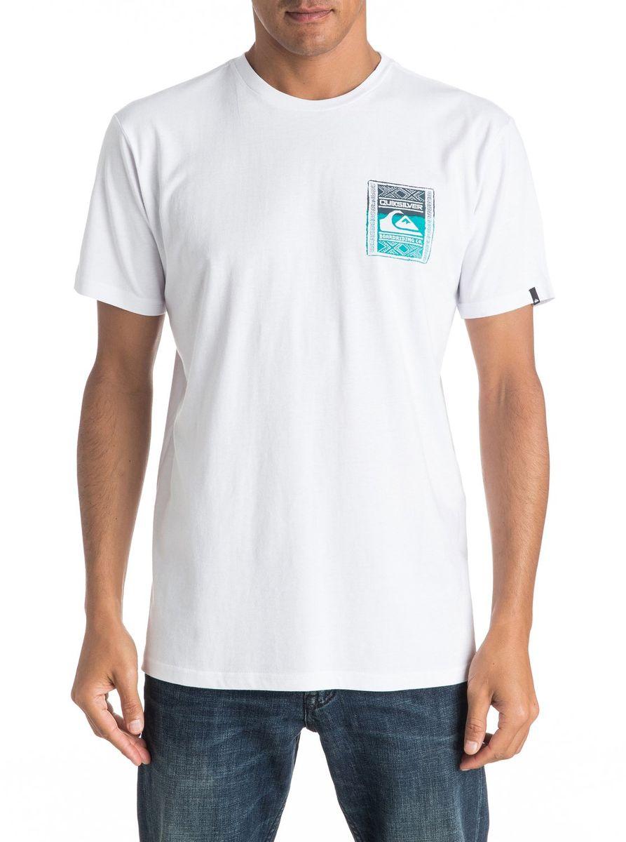 ФутболкаEQYZT04296-KVJ0Мужская футболка Quiksilver изготовлена из качественного материала. Модель выполнена с круглой горловиной и короткими рукавами.