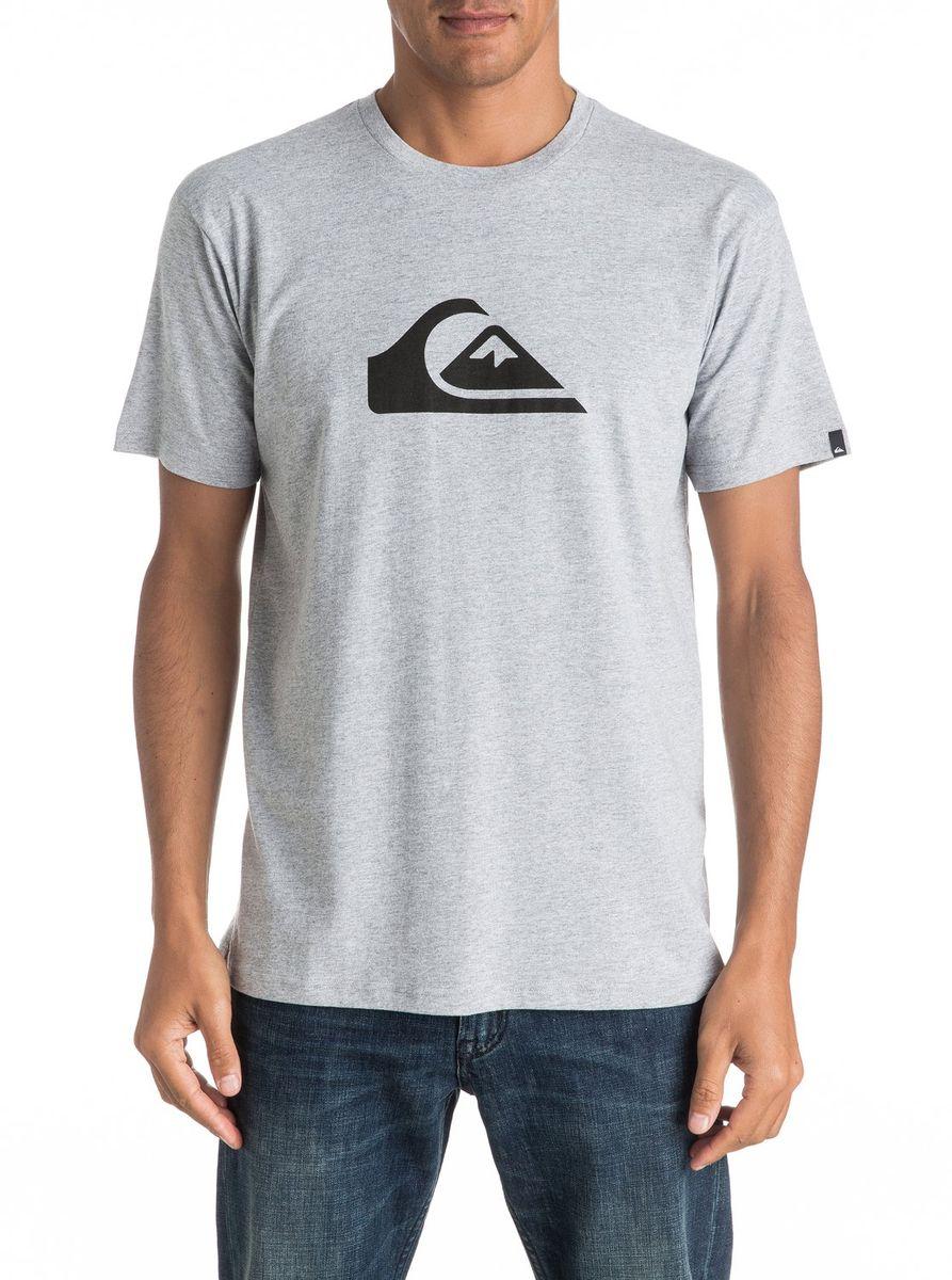ФутболкаEQYZT04302-SGRHМужская футболка Quiksilver изготовлена из качественного натурального хлопка. Модель выполнена с круглой горловиной и короткими рукавами.