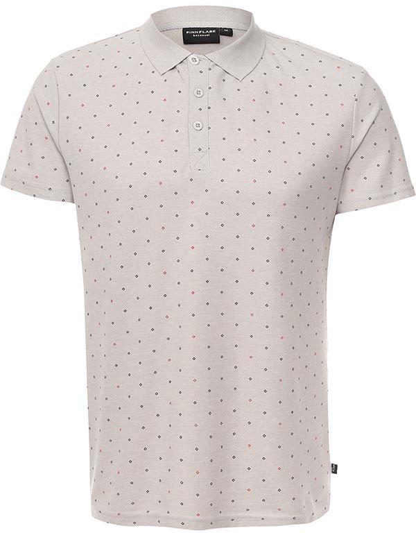 РубашкаB17-21029_211Мужское поло Finn Flare выполнено из натурального хлопка. Модель с отложным воротником и короткими рукавами застегивается на пуговицы.