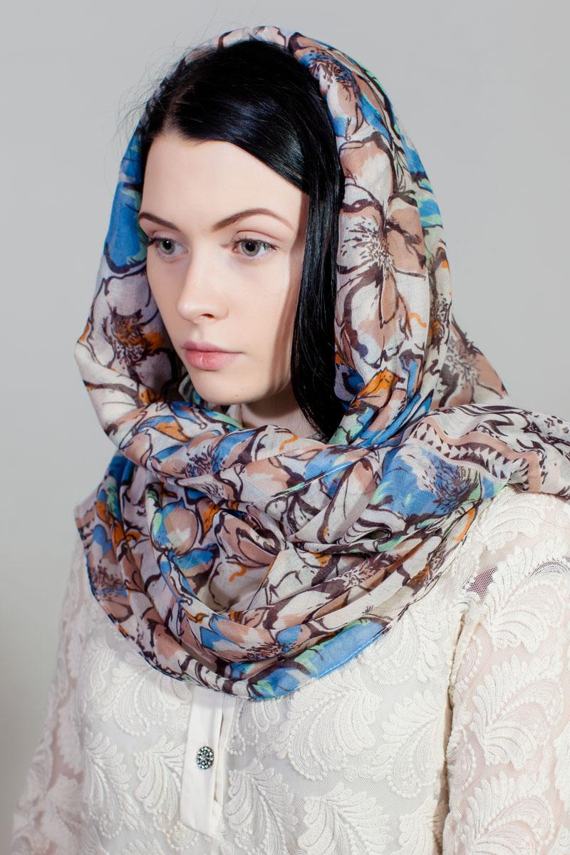 ПалантинHL-11730-10Стильный палантин Sophie Ramage изготовлен из модала и шелка. Изделие оформлено оригинальным принтом.