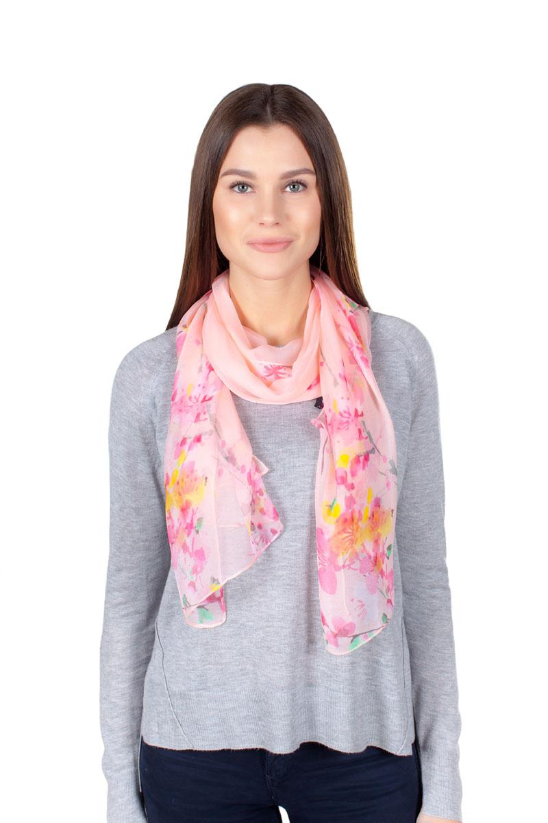 ШарфYY-11708-15Стильный шарфик Sophie Ramage изготовлен из качественной смесовой ткани. Изделие оформлено оригинальным принтом.