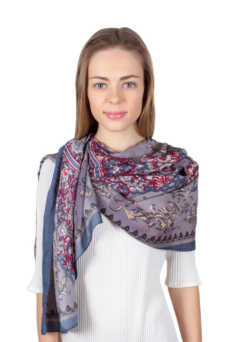 ПалантинYY-11711-15Стильный палантин Sophie Ramage изготовлен из качественной смесовой ткани. Изделие оформлено оригинальным принтом.