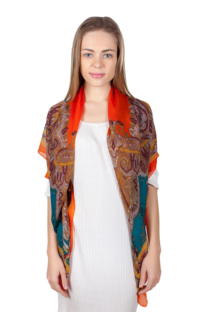 ПлатокYY-11721-6Стильный платок изготовлен из модала и шелка. Изделие оформлено оригинальным принтом.