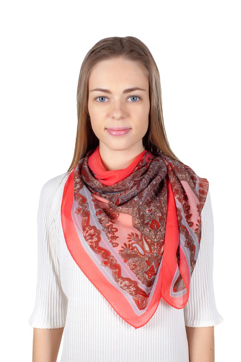 ПлатокYY-11721-1Стильный платок изготовлен из модала и шелка. Изделие оформлено оригинальным принтом.