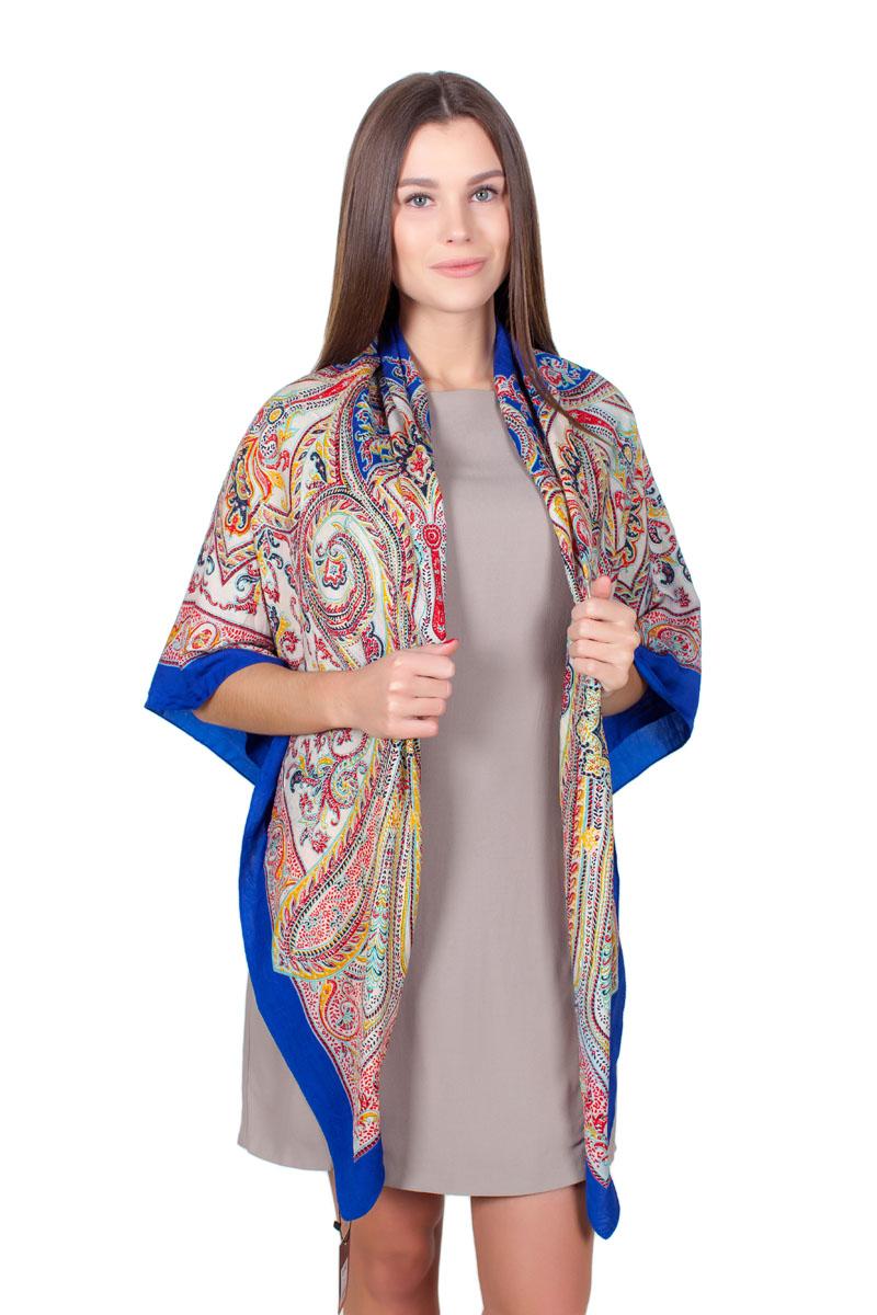 ПлатокYY-11713-24Стильный платок изготовлен из модала и шелка. Изделие оформлено оригинальным принтом.