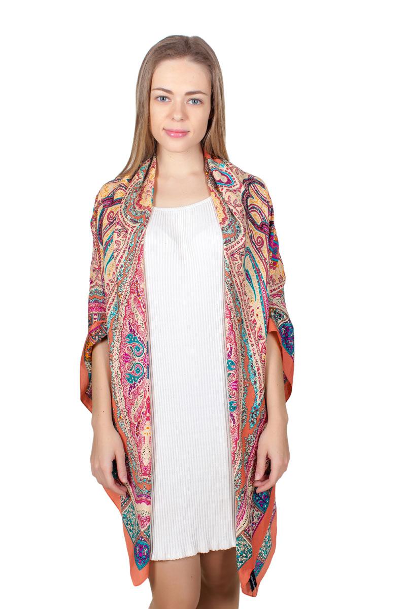 ПлатокYY-11713-22Стильный платок изготовлен из модала и шелка. Изделие оформлено оригинальным принтом.