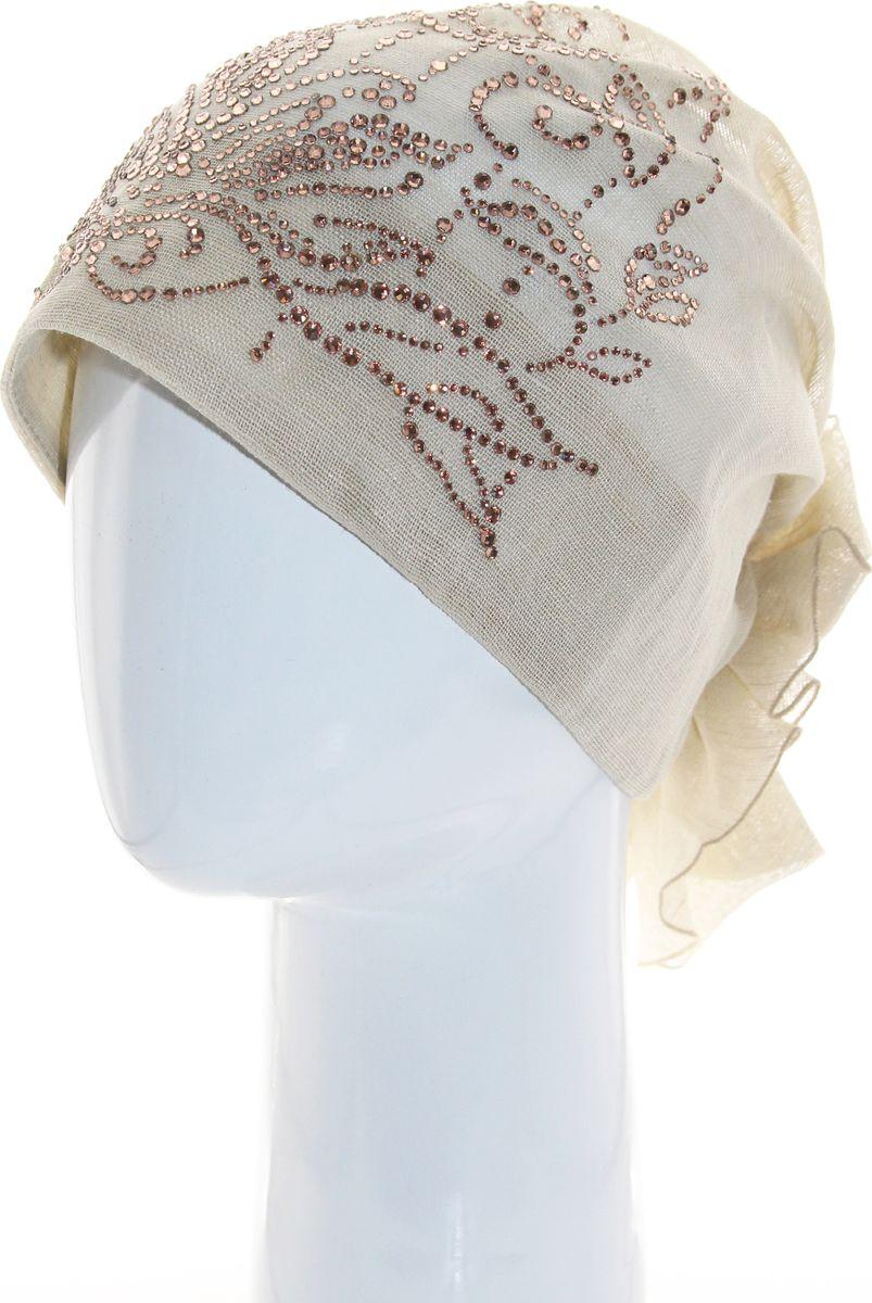 Бандана392377Прекрасный головной убор для лета из натуральных материалов,детали и оттенок изделия могут отличаться от представленных на фото