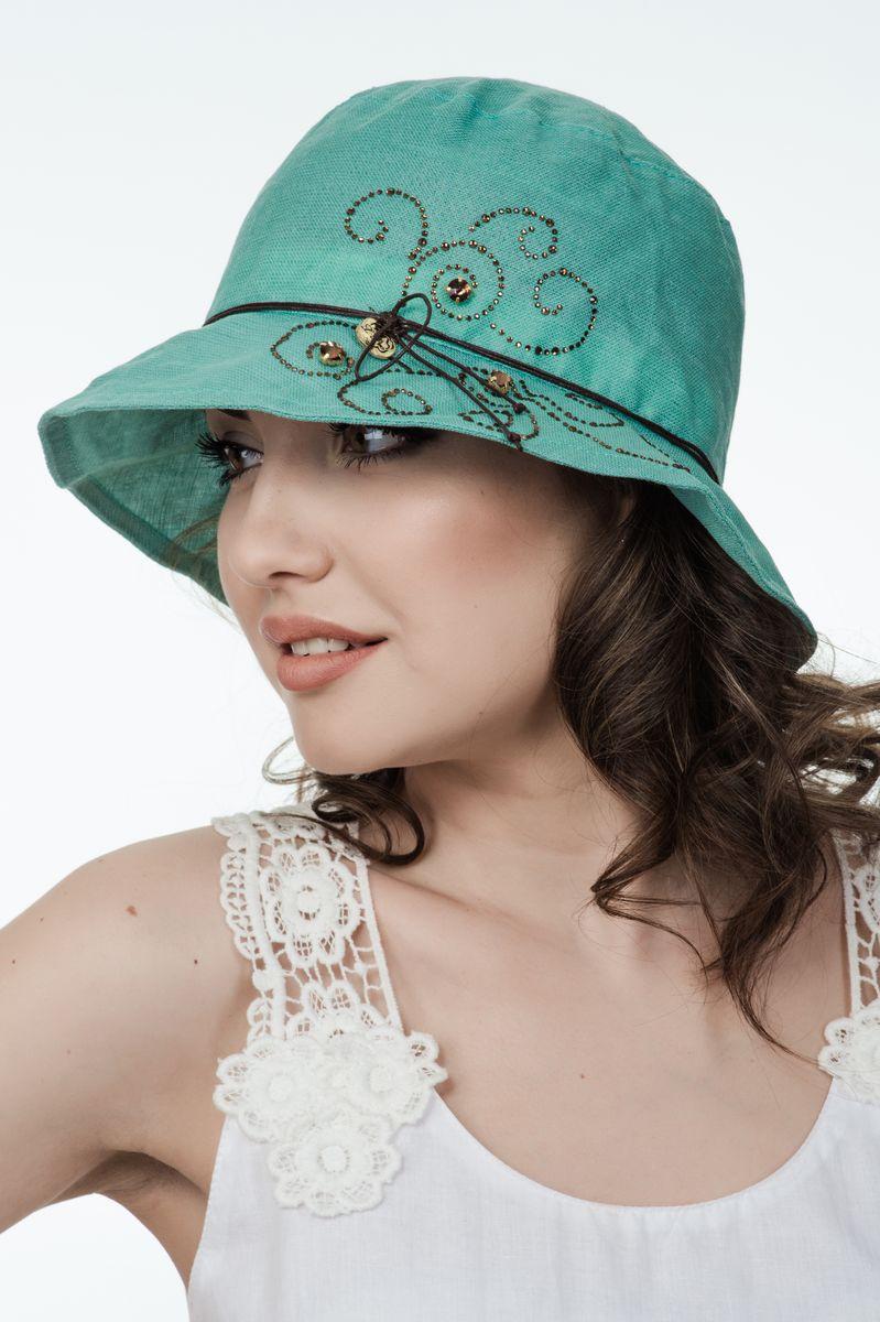 Панама381148Прекрасный головной убор для лета из натуральных материалов,детали и оттенок изделия могут отличаться от представленных на фото
