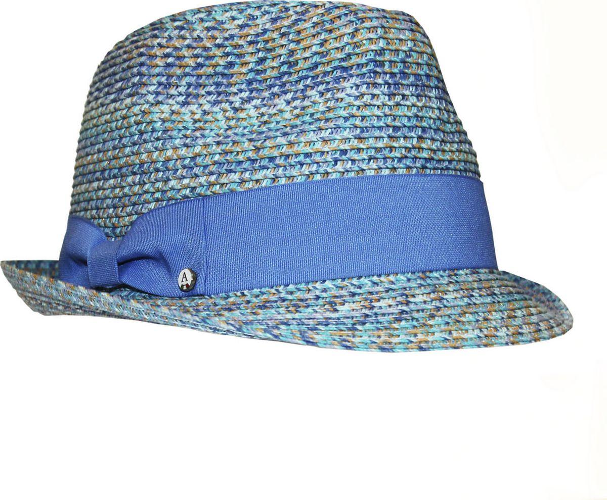 Шляпа991946Женская шляпа Avanta изготовлена из бумажной нити с добавлением полиэстера. Яркая модель оформлена однотонным кантом с бантом и маленьким декоративным элементом. Прекрасный головной убор для лета из натуральных материалов. Размер, доступный для заказа, является обхватом головы.