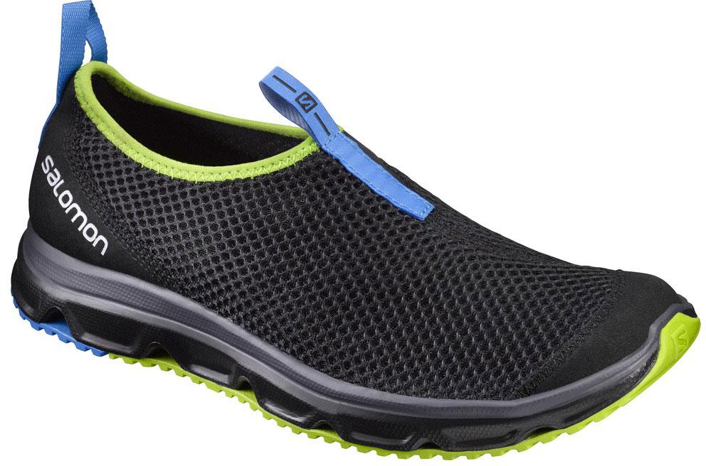 Кроссовки381601Кроссовки Salomon RX MOC 3.0, сочетающие отличную амортизацию и воздухопроницаемость, помогут ногам расслабиться после долгих и утомительных тренировок. Также могут использоваться в качестве повседневной обуви. Модель выполнена из комбинации вентиляционного текстиля с сетчатым верхним слоем и синтетического материала. По канту обувь дополнена текстильной нашивкой для лучшего облегания ноги. Текстильная подкладка и стелька из ЭВА материала с кожаным верхним покрытием обеспечат дополнительный комфорт и предотвратят натирание. Задняя часть обуви оформлена фирменным принтом, ярлычок на подъеме - символикой бренда. Ярлычки предназначены для более удобного надевания обуви. Промежуточная подошва EVA отлично амортизирует. Подошва Contagrip не оставляет следов и обеспечивает отличное сцепление со скользкой поверхностью.
