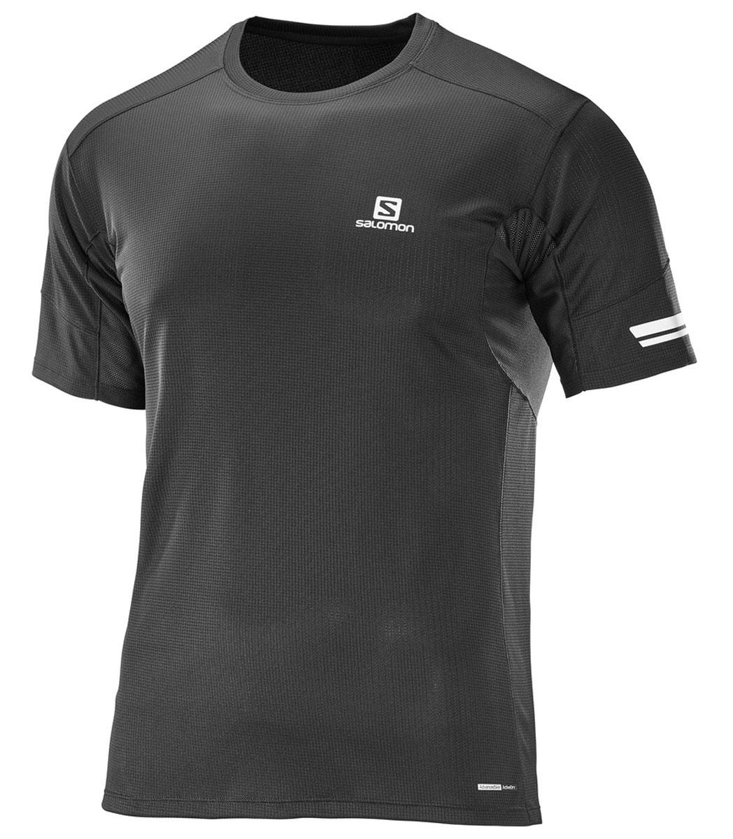 ФутболкаL39386600Легкая функциональная футболка Salomon с сетчатым карманом для спортивного геля и светоотражающими на 360° элементами для бега в любое время суток.