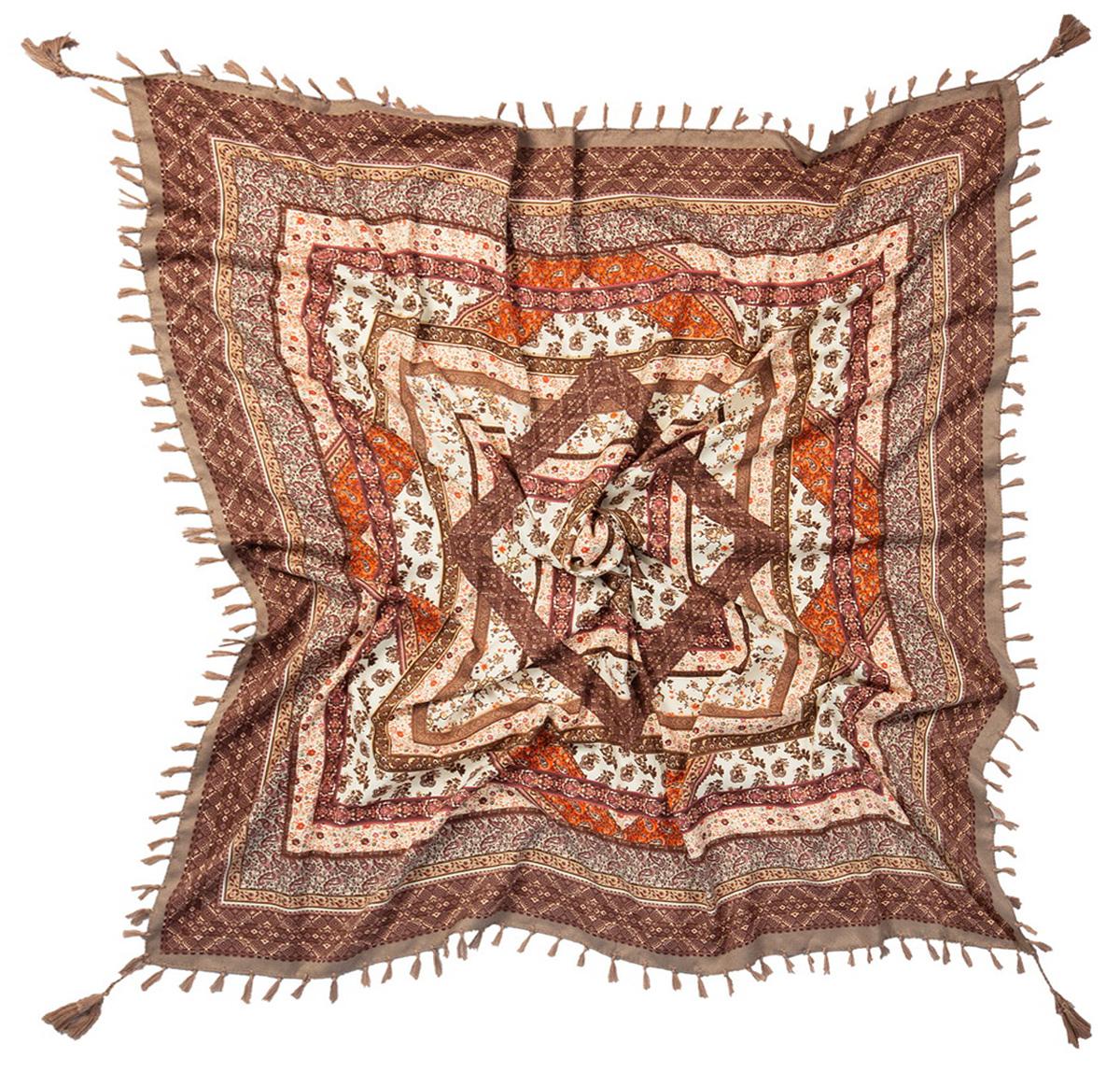 Платок1201BСтильный платок Laccom изготовлен из вискозы и хлопка. Модель оформлена оригинальным принтом и декоративными кисточками. Изделия Laccom приятные на ощупь и подойдут к любому стилю.