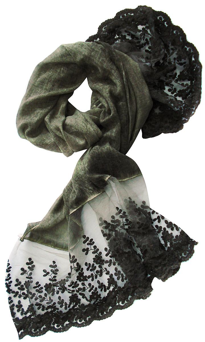 Палантин3217GСтильный палантин Laccom изготовлен из вискозы и полиэстера. Модель оформлена рисунком с прозрачными мотивами. Изделия Laccom приятные на ощупь и подойдут к любому стилю.