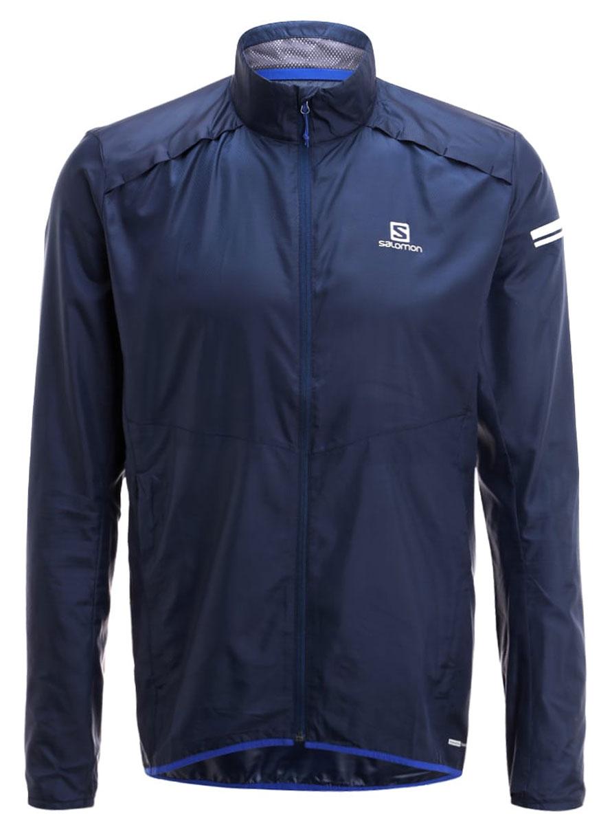 ВетровкаL39268800Легкая куртка Agile Jacket стильно выглядит и защищает от ветра. Модель с длинными рукавами и воротником-стойкой застегивается на молнию.