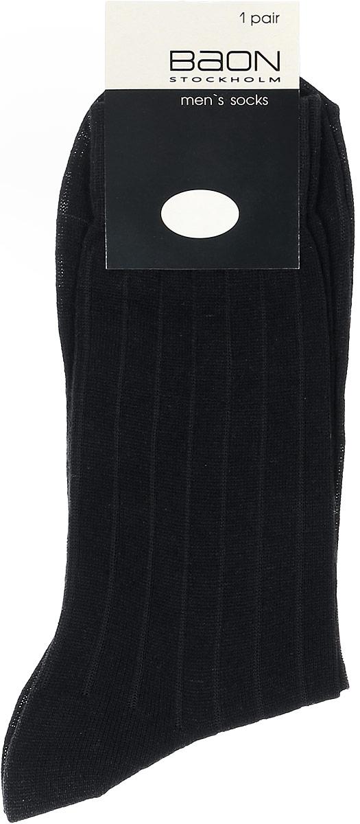 НоскиB897014_BlackМужские носки Baon изготовлены из высококачественного хлопка с добавлением полиамида. Удлиненные носки имеют эластичную резинку, которая надежно фиксирует носки на ноге.