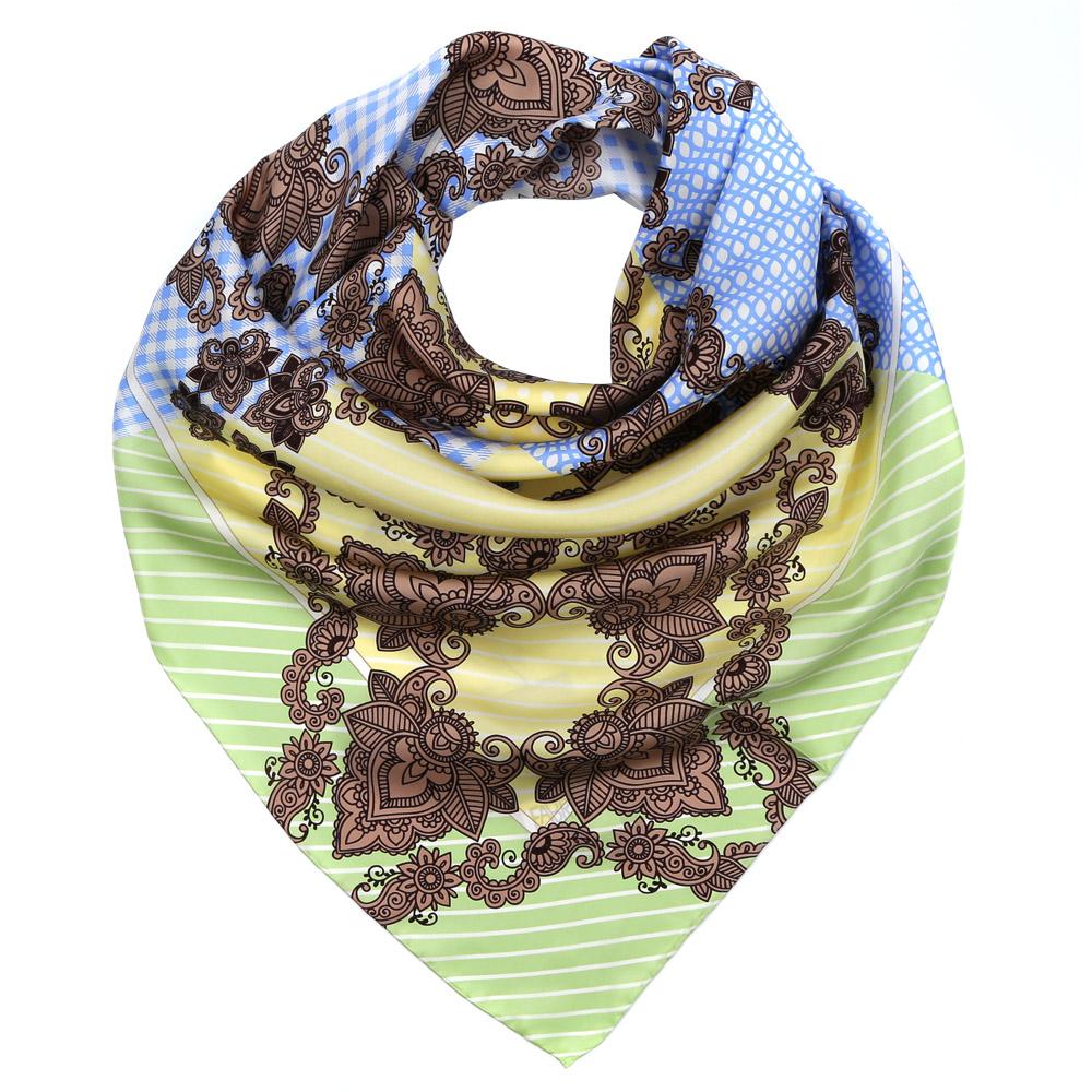 ПлатокCX1617-29-3Изысканный женский платок выполнен из натурального шелка, который придает изделию неповторимый роскошный блеск и гладкость фактуры. Тонкая и прочная нить, создающая струящуюся ткать, подчеркнет изысканный вкус своей обладательницы.