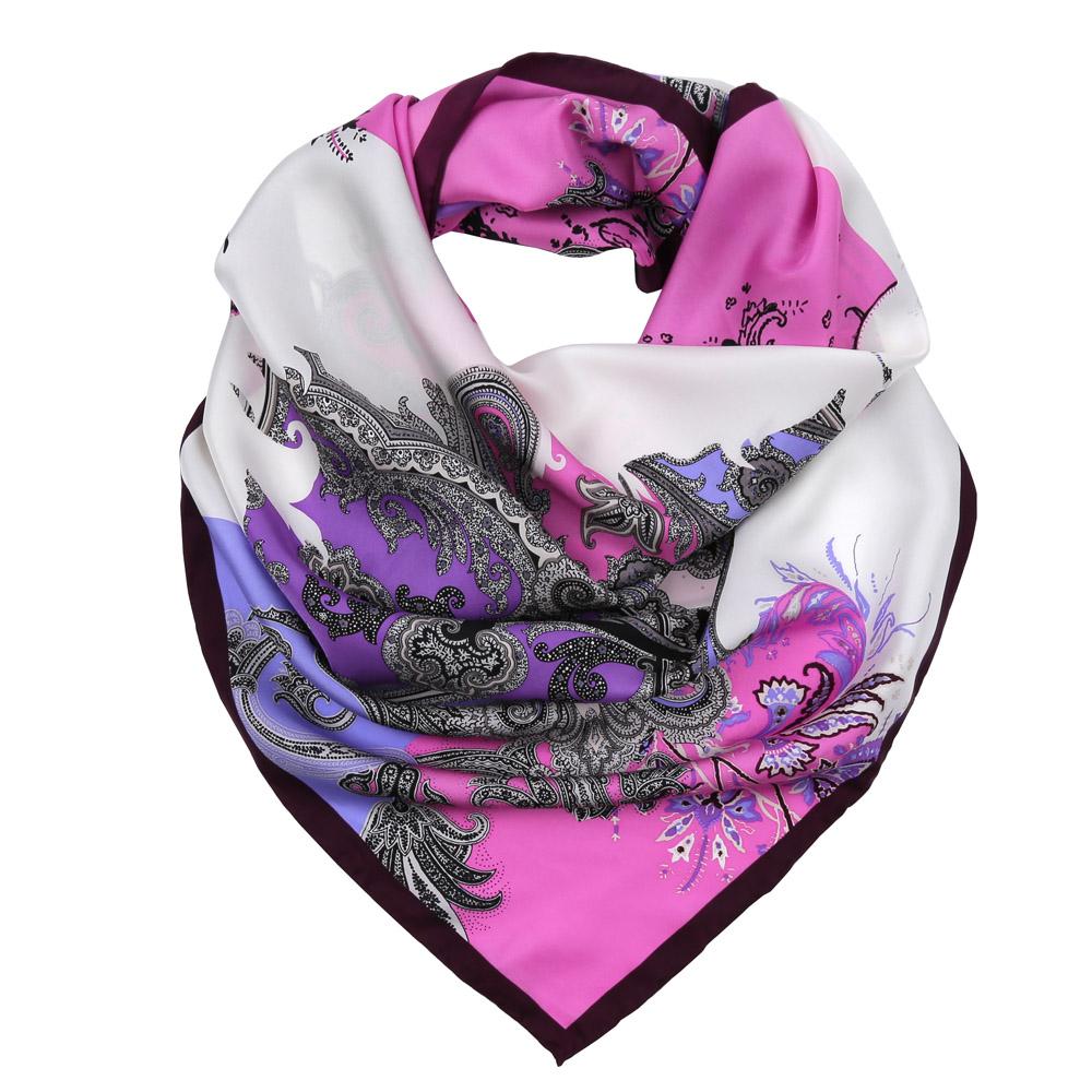 ПлатокCX1617-28-1Изысканный женский платок Fabretti выполнен из натурального шелка, который придает изделию неповторимый роскошный блеск и гладкость фактуры. Тонкая и прочная нить, создающая струящуюся ткать, подчеркнет изысканный вкус своей обладательницы.