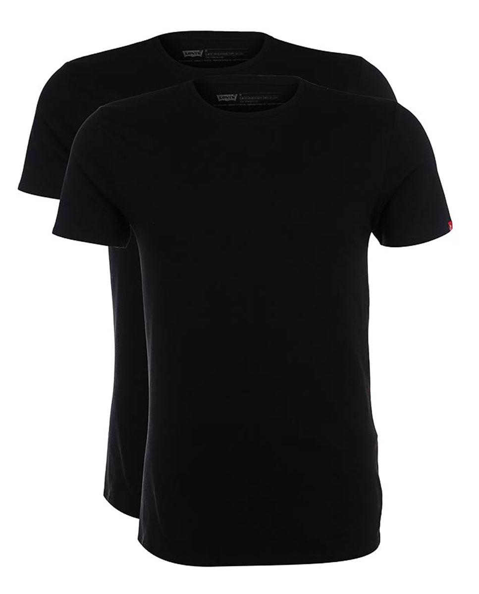 8217600030Комплект из двух футболок из хлопка с круглым вырезом горловины.
