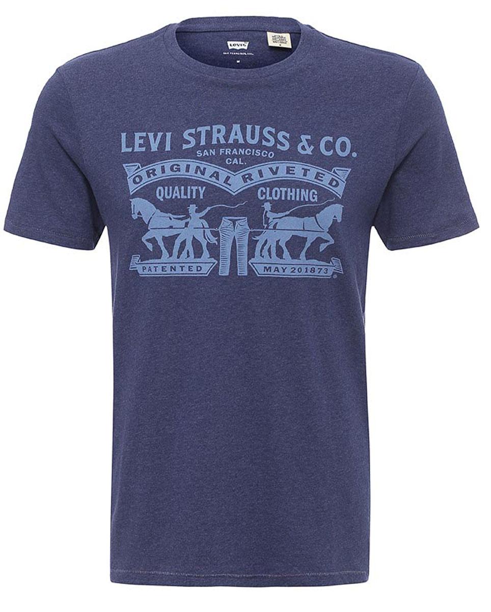 Футболка2249500140Мужская футболка Levis® изготовлена из качественного натурального хлопка. Модель прямого кроя выполнена с круглой горловиной и короткими рукавами. На груди модель дополнена оригинальным принтом.