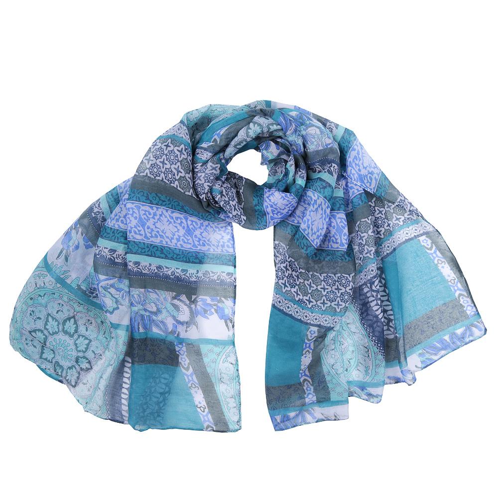 ШарфKY0914-AЭлегантный женский шарф от итальянского бренда Fabretti имеет неповторимую мягкость и легкость фактуры. Красочное сочетание цветов позволило дизайнерам создать изысканную модель, которая станет изюминкой любого весеннего образа.