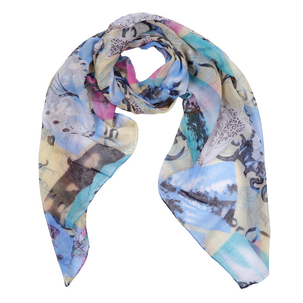 ШарфLeo386-AЭлегантный женский шарф от итальянского бренда Fabretti имеет неповторимую мягкость и легкость фактуры. Красочное сочетание цветов позволило дизайнерам создать изысканную модель, которая станет изюминкой любого весеннего образа.