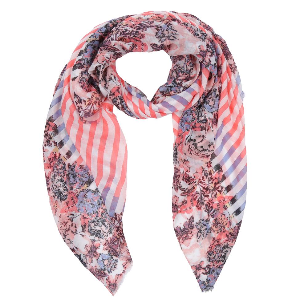 ШарфLeo260-BЭлегантный женский шарф от итальянского бренда Fabretti имеет неповторимую мягкость и легкость фактуры. Красочное сочетание цветов позволило дизайнерам создать изысканную модель, которая станет изюминкой любого весеннего образа.