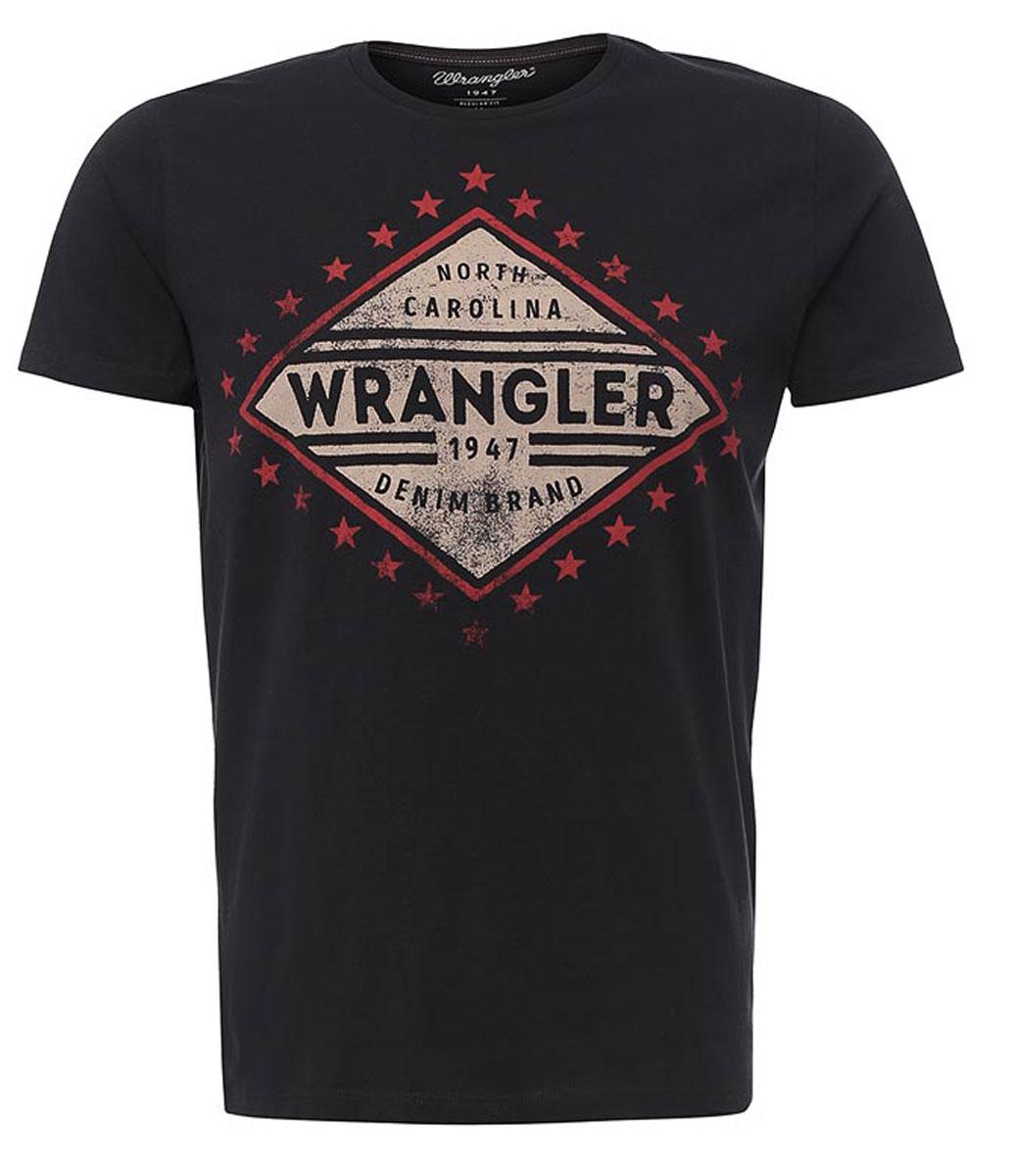 W7A52FK16Мужская футболка Wrangler Americana изготовлена из натурального хлопка. Модель выполнена с круглой горловиной и короткими рукавами. Спереди футболка декорирована оригинальным принтом.