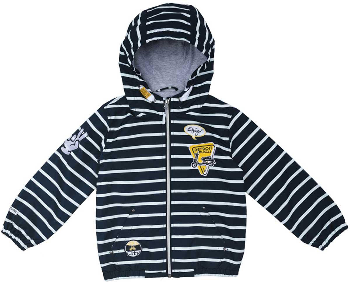 171151Практичная яркая куртка на подкладке, со специальной водоотталкивающей пропиткой защитит Вашего ребенка в любую погоду! Мягкие резинки на рукавах защитят Вашего ребенка - ветер не сможет проникнуть под куртку. Специальный карман для фиксации застежки-молнии не позволит застежке травмировать нежную кожу ребенка. Модель снабжена удобными регулируемым шнурами - кулисками на капюшоне.Преимущества:Водоооталкивающая тканьЗащита подбородка. Специальный карман для фиксации застежки-молнии.Подкладка из смесовой ткани