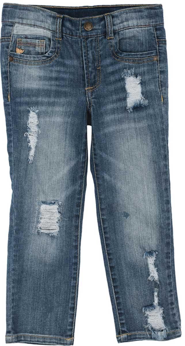 Джинсы171156Стильные эффектные брюки из джинсовой ткани с эффектом потертости и прорезями прекрасно подойдут для повседневной носки и не сковывают движений ребенка. Удобны для длительных прогулок на свежем воздухе. Пояс со шлевками, при необходимости можно использовать ремень. Джинсы застегиваются на скрытую застежку-молнию и металлическую пуговицуПреимущества:Пояс со шлевками, при необходимости можно использовать ременьМодель снабжена 5-ю полноценными карманамиСкрытая застежка - молния и металлическая пуговица