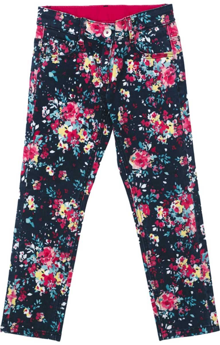Брюки172009Стильные брюки из мягкой яркой цветной ткани понравятся вашей моднице. Брюки комфортны при носке и не сковывают движений ребенка. Модель с карманами, снабжена шлевками. Могут быть хорошей базовой вещью в детском гардеробе