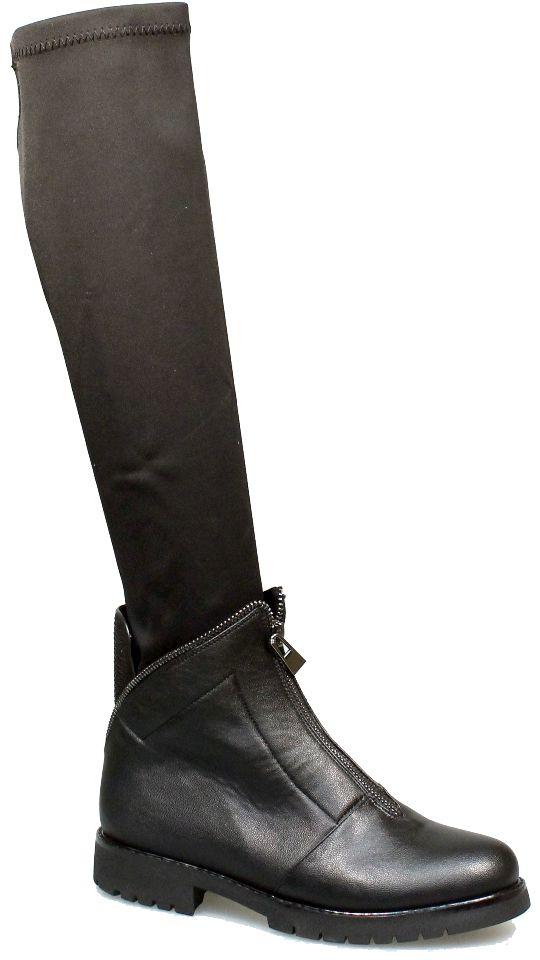 Сапоги2123-MI63179BОригинальные женские сапоги Avenir Premium заинтересуют вас своим дизайном с первого взгляда! Низ модели изготовлен из искусственной кожи и декорирован молниями, верх выполнен из высококачественного эластичного текстиля имитирующего чулок. Закругленный носок добавит женственности в ваш образ. Подкладка из мягкой байки обеспечит комфорт и уют. Стелька из байки защитит ноги от холода. Подошва с рифлением обеспечивает отличное сцепление на любой поверхности. В таких сапогах вашим ногам будет тепло и удобно. Они прекрасно дополнят ваш повседневный образ.