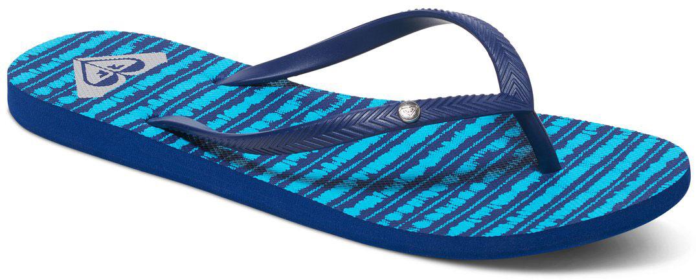 СланцыARJL100249-LTPСтильные женские сланцы Bermuda от Roxy придутся вам по душе. Верх модели выполнен из поливинилхлорида. Ремешки с перемычкой гарантируют надежную фиксацию модели на ноге. Рифление на верхней поверхности подошвы предотвращает выскальзывание ноги. Основание подошвы дополнено рифлением.