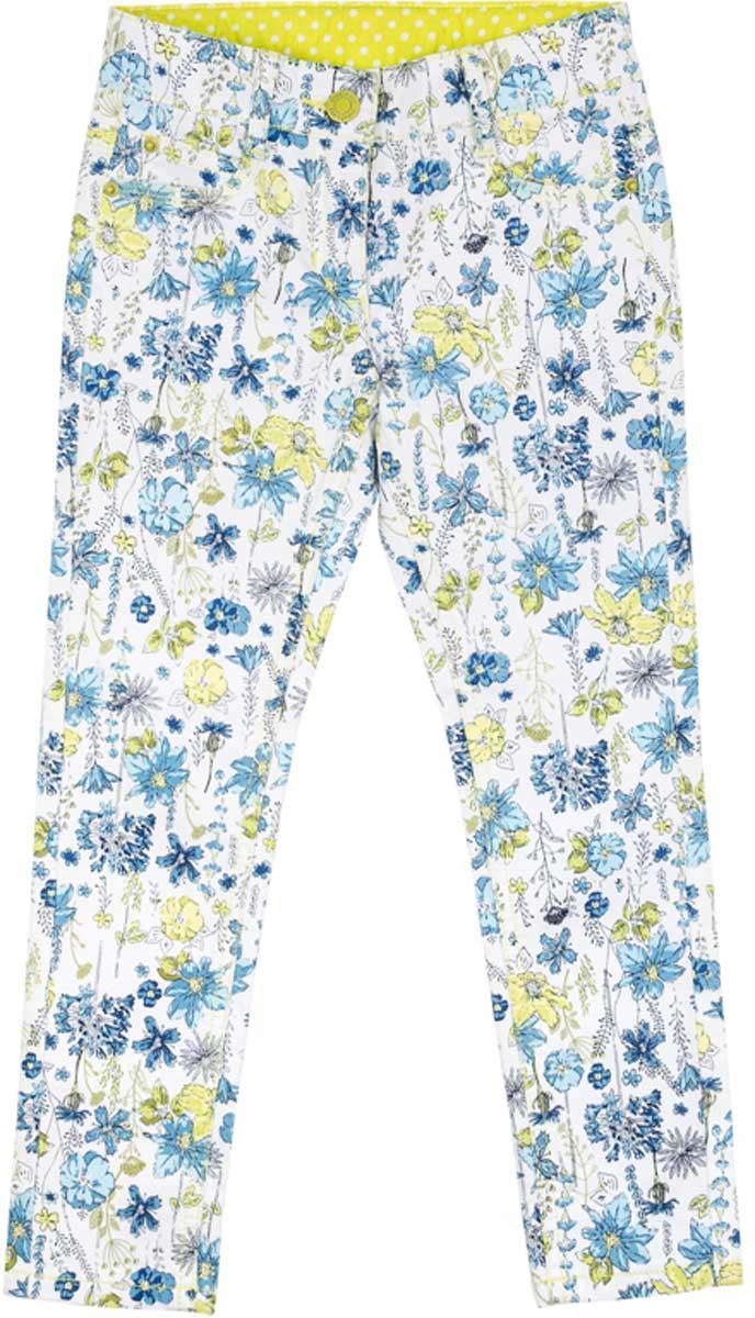 Брюки172107Эффектные брюки яркой модной расцветки обязательно понравятся Вашей моднице! Шлевки на поясе позволяют использовать ремень для посадки брюк по фигуре. Мягкая ткань, приятная на ощупь, не сковывает движений ребенка.