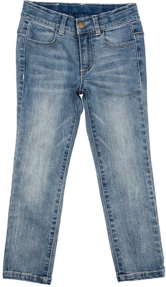 Джинсы172155Брюки - джинсы прекрасно подойдут Вашему ребенку для отдыха и прогулок. Мягкая ткань не сковывает движений ребенка. Брюки с эффектом потертости. Могут быть базовой вещью в детском гардеробе. Добавление в ткань эластана позволяет брюкам хорошо сесть по фигуре.Преимущества:Свободный крой не сковывает движений ребенкаМатериал приятен к телу и не вызывает раздраженийМодель со шлевками