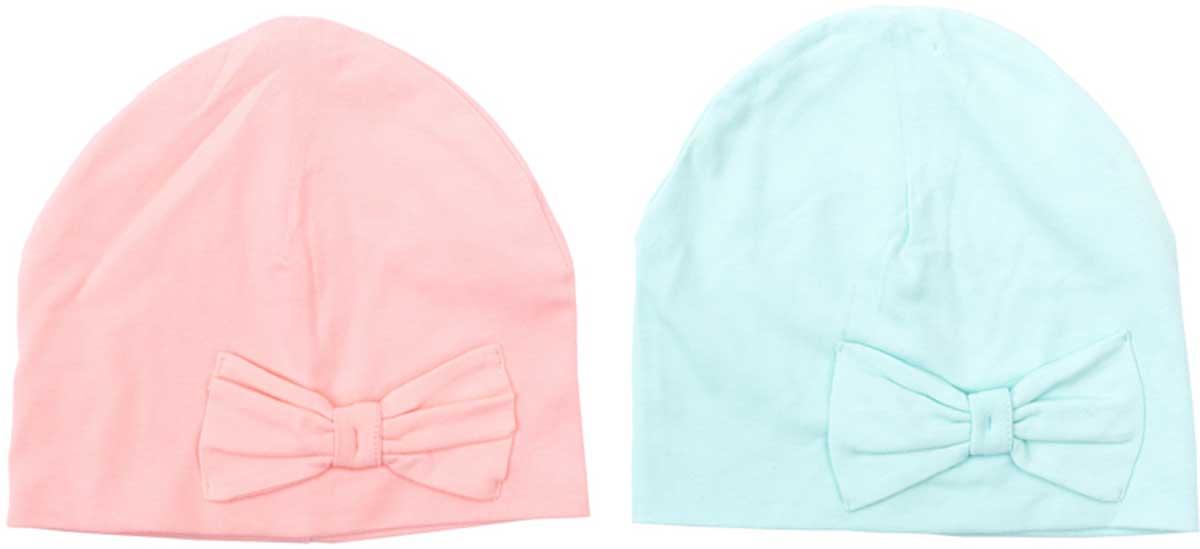 Шапка детская172034Мягкие яркие стильные шапки из трикотажа подойдут Вашему ребенку для прогулок в прохладную погоду. Шапки без завязок, плотно прилегают к голове, декорированы эффектными бантами Преимущества: Мягкий трикотаж Плотно прилегают к голове Комфортны при носке