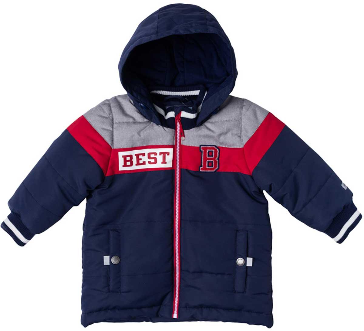 Куртка177002Практичная утепленная куртка с капюшоном со специальной водоотталкивающей пропиткой защитит Вашего ребенка в любую погоду! Мягкие трикотажные резинки на рукавах защитят Вашего ребенка - ветер не сможет проникнуть под куртку. Специальный карман для фиксации застежки-молнии не позволит застежке травмировать нежную детскую кожу. Модель снабжена светоотражателями на рукаве и по низу изделия - Ваш ребенок будет виден даже в темное время сутокПреимущества: Защита подбородка. Специальный карман для фиксации застежки-молнии. Наличие данного кармана не позволит застежке -молнии травмировать нежную кожу ребенкаСветооражательВодоооталкивающая пропитка