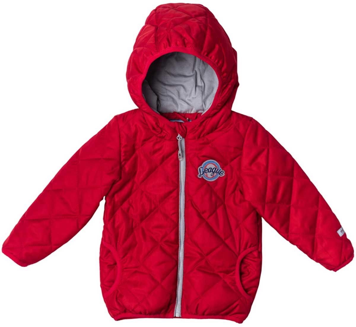 Куртка177003Утепленная стеганая куртка - прекрасное решение для прохладной погоды. Мягкие трикотажные резинки на рукавах защитят вашего ребенка - ветер не сможет проникнуть под куртку. Специальный карман для фиксации застежки- молнии не позволит застежке травмировать нежную детскую кожу. Мягкая резинка на капюшоне не позволит ему упасть с головы вашего ребенка даже во время активных игр. Модель снабжена светоотражателями на рукаве и по низу изделия - ваш ребенок будет виден даже в темное время суток.