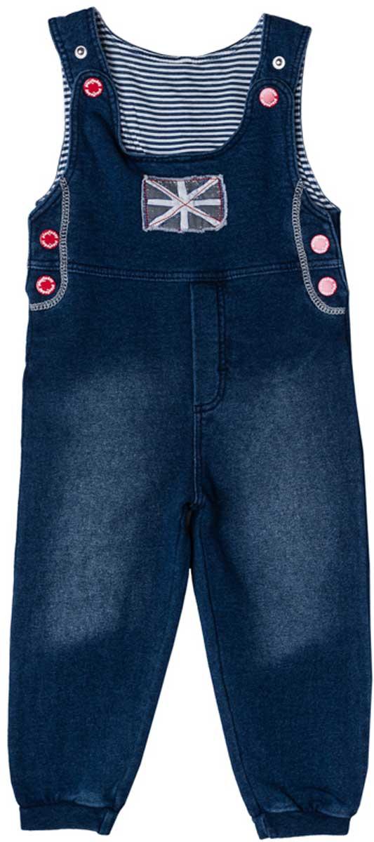 Комбинезон домашний177011Удобный джинсовый комбинезон с эффектом потертости из натурального материала сможет быть одной из базовых вещей в гардеробе вашего ребенка. Для удобства снимания и одевания бретели и боковины модели снабжены застежками - кнопками. Низ брючин на мягких резинках. Свободный крой не сковывает движений. Натуральный материал приятен к телу и не вызывает раздражений.
