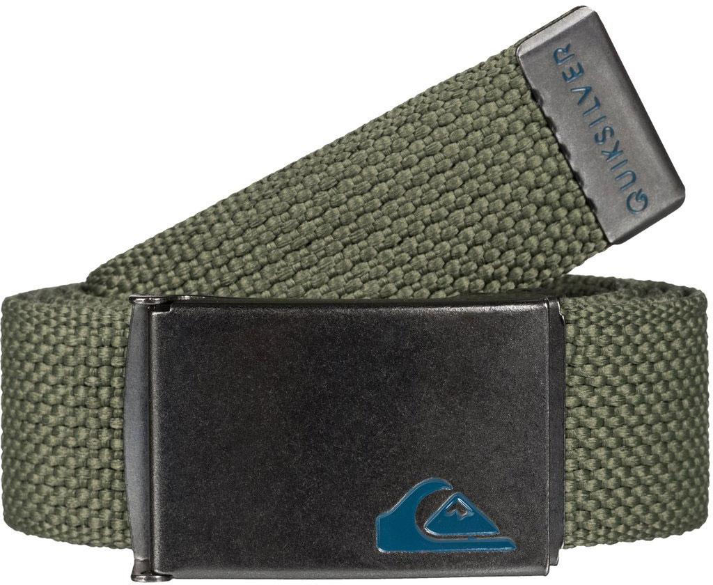 РеменьEQYAA03289-CPV0Мужской ремень от Quiksilver выполнен из текстиля, дополнен контрастной металлической пряжкой.