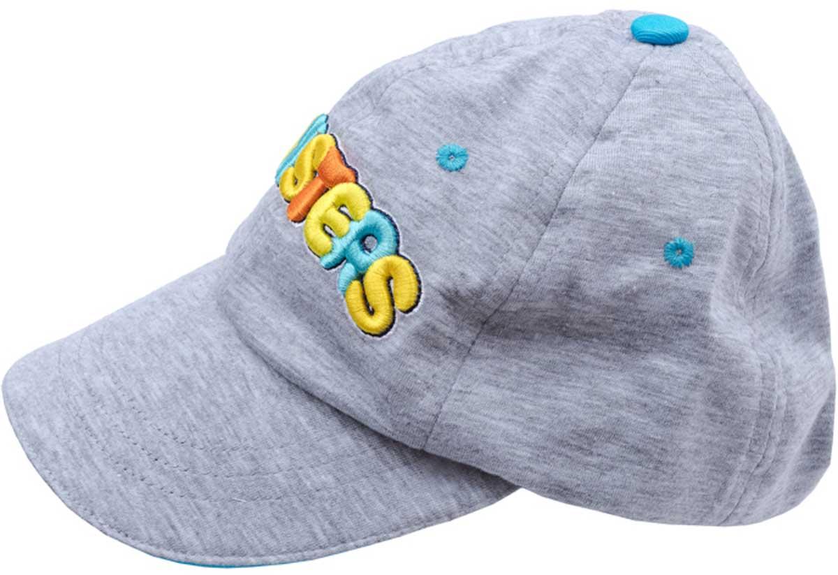 Бейсболка177079Модная кепка - бейсболка из смесовых тканей понравится вашему ребенку и защитит в солнечную погоду. Модель с эффектной аппликацией